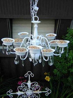 Chandelier bird-feeders for a touch of class