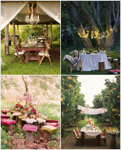 Go rustic in the woods!