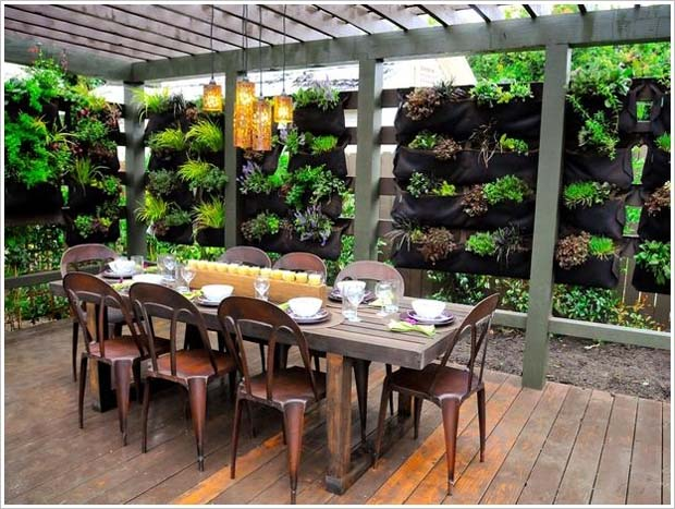 Lacking space? No problem - vertical gardens are a great option