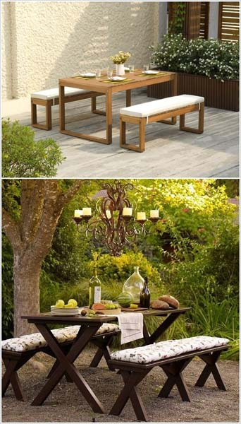 Dress up a picnic table