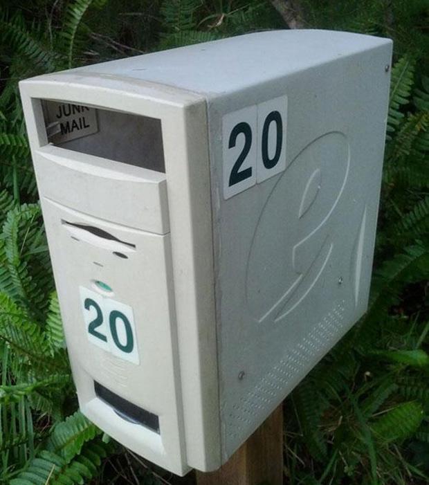 Ancient computer letterbox!