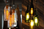 Use old bottles as cool lights