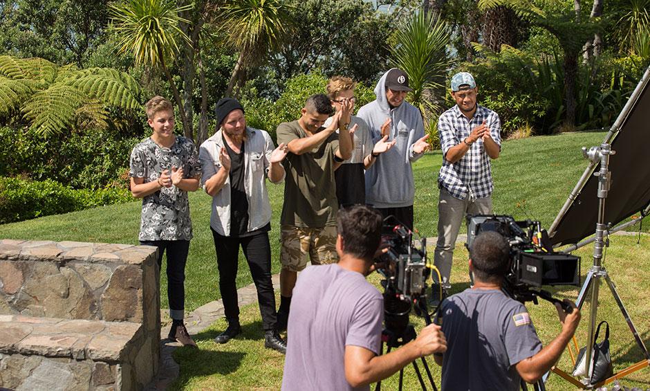 Shooting the boys at Natalia's retreat
