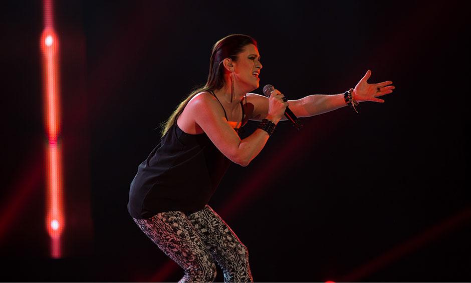 Sarah rocking her performance